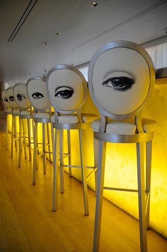 eyes, stools, bar: Hotels Bar, Idea, Philippe Starck, S'More Bar, London, Bar Chairs, Bar Stools, Eye, Kitchens Stools