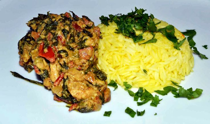 Palak Murgh - Indian style chicken with spinach