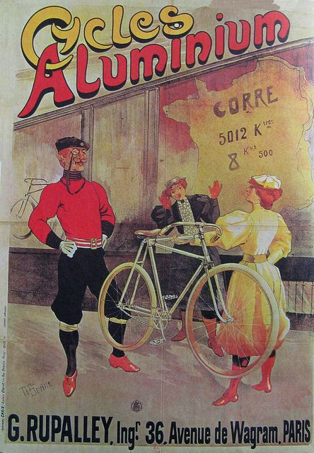Vintage Bicycle Poster: Cycles Aluminium by Mikael Colville-Andersen, via Flickr