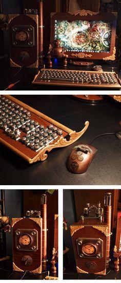Steampunk Computer Mod by ajldesign.deviant... on @deviantART