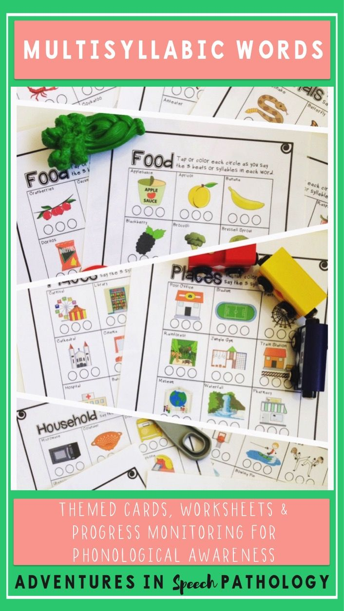 Target both phonological awareness AND categorisation with this set of themed polysyllabic/multisyllabic cards that double as worksheets. Progress monitoring is included.