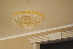 Crystal ceiling lights - the combination of crystal and gold #CrystalCeilingLight