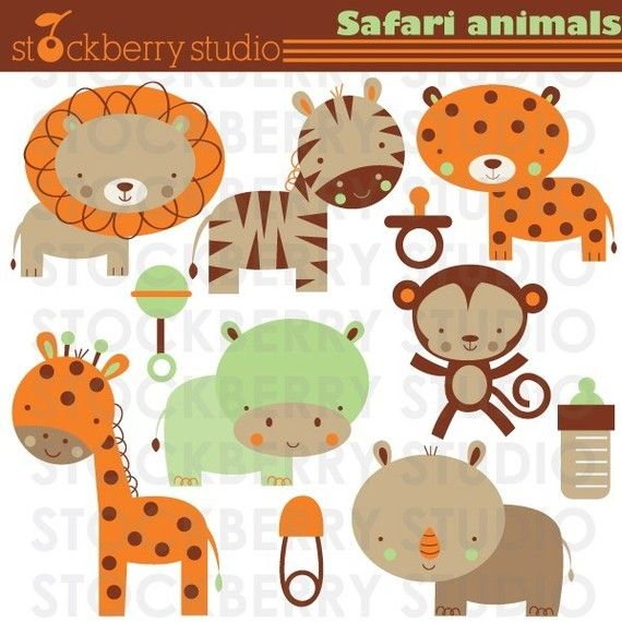 Safari Animals Personal and Commerical Use by stockberrystudio, $5.00