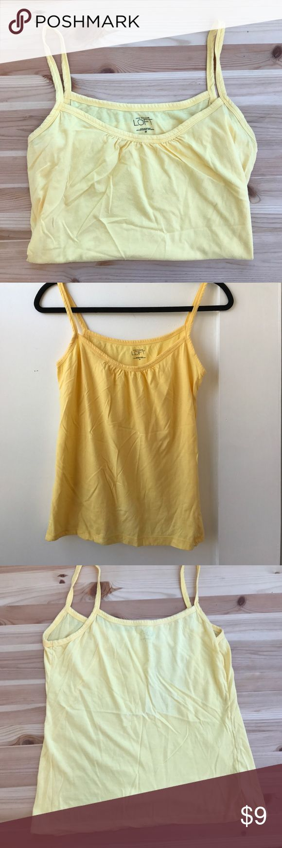 Ann Taylor LOFT yellow tank top LOFT by Ann Taylor yellow tank top. Size medium. LOFT Tops Tank Tops