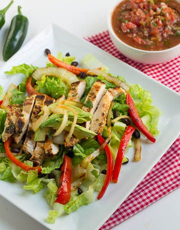 Chicken Fajita Salad (great for Advocare Cleanse or #lowcarb)
