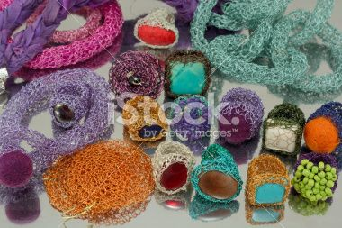Crochet Wire Jewelry Collection Royalty Free Stock Photo