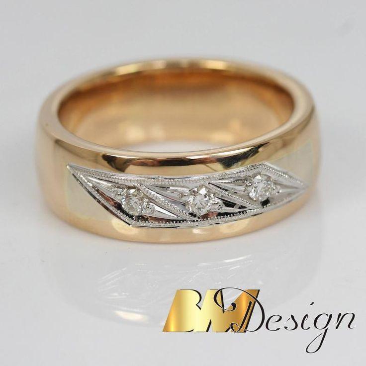 Obrączka z diamentami Ręcznie oprawiane diamenty Obrączka ślubna zjawiskowa #diamenty #bmdesign #Rzeszów #biżuteria #nazamowienie