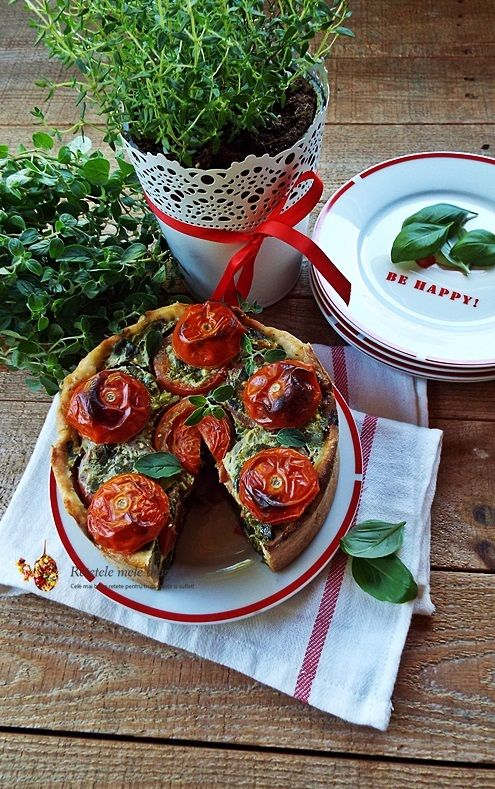 Tarta sarata cu spanac si rosii http://www.retetelemeledragi.com/2016/04/tarta-sarata-cu-spanac-si-rosii.html/