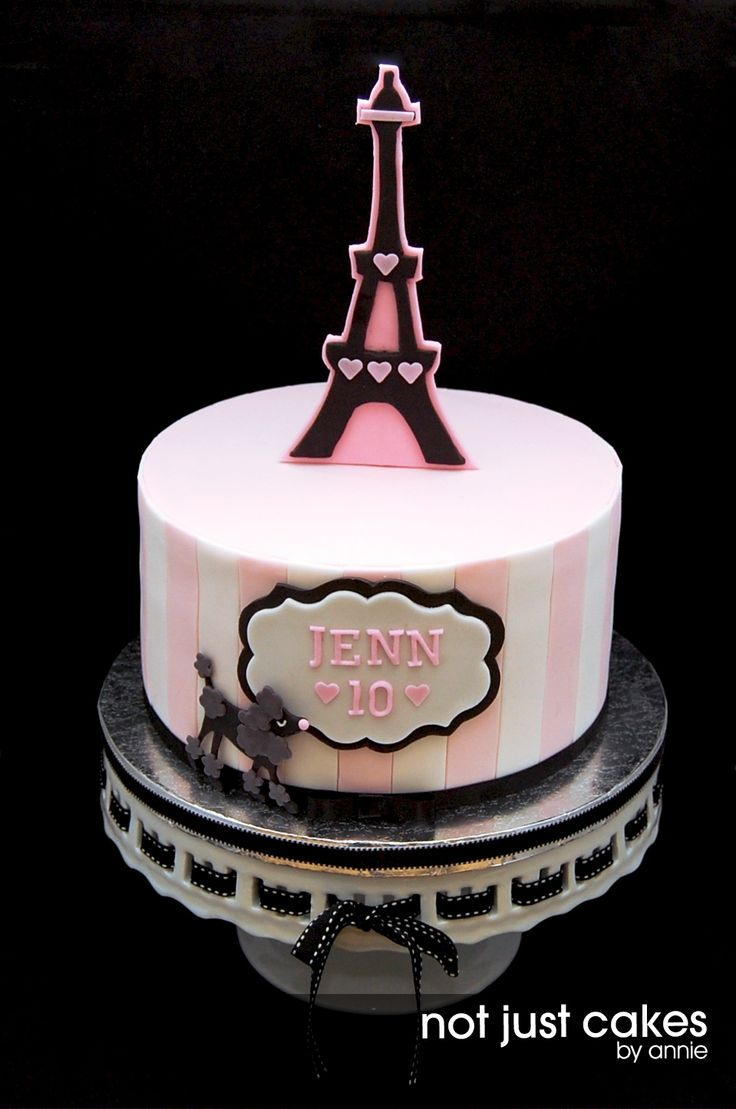Google themes pink and black - Pink And Black Paris Themed Cake I Have Never Been To Paris And This Is