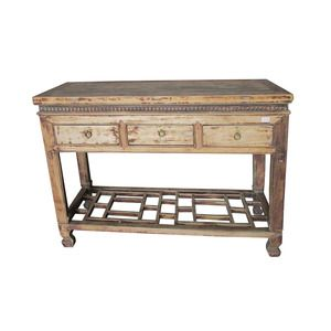 CONSOLE TABLE W/ 3 DRAWERS (BT014)