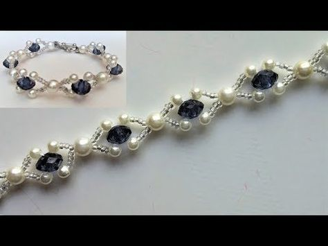 Beaded wedding jewelry pattern. How to make an elegant bracelet (necklace) – You…
