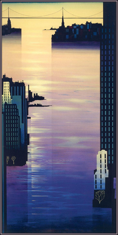 Eyvind Earle (USA 1916-2000)-East River