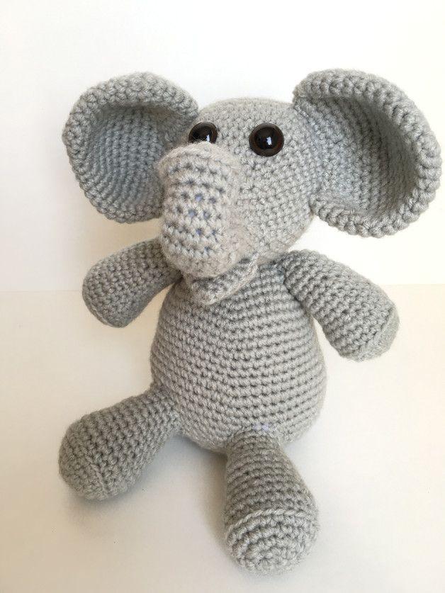 Häkelanleitung Elefant Udo made by Kitty's Schatzkiste via DaWanda.com