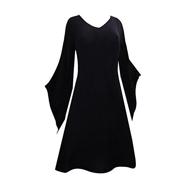 LONG black MEDIEVAL TOP DRESS 14 16 18 20 22 24 26 28 30 32 plus size... ($33) ❤ liked on Polyvore featuring costumes, goth costume, witch halloween costume, womens plus costumes, plus size womens costumes and plus size costumes