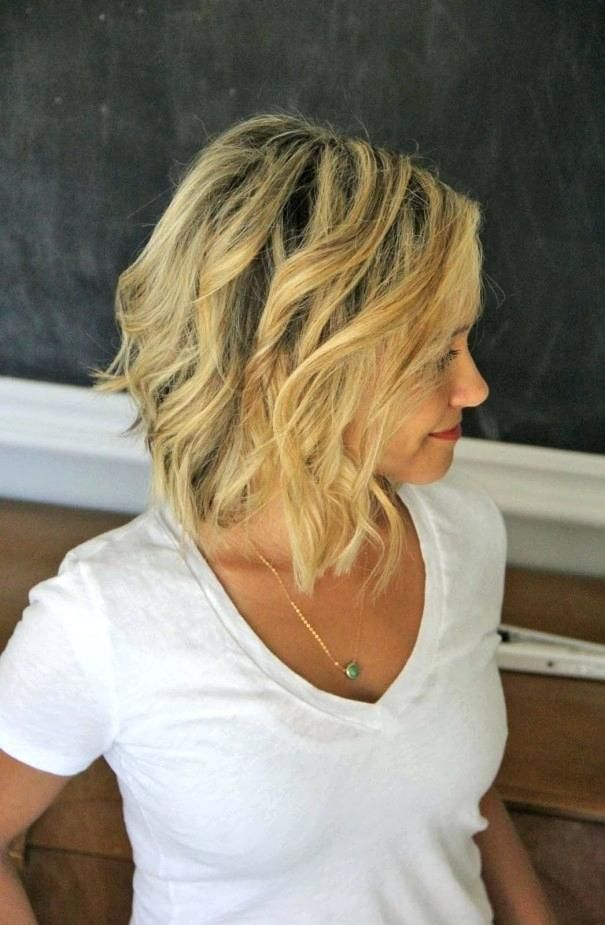 Unique Beach Waves Hairstyle Without Curling Iron Beach Wave Hair Styles Short Hair Waves Short Hair Styles