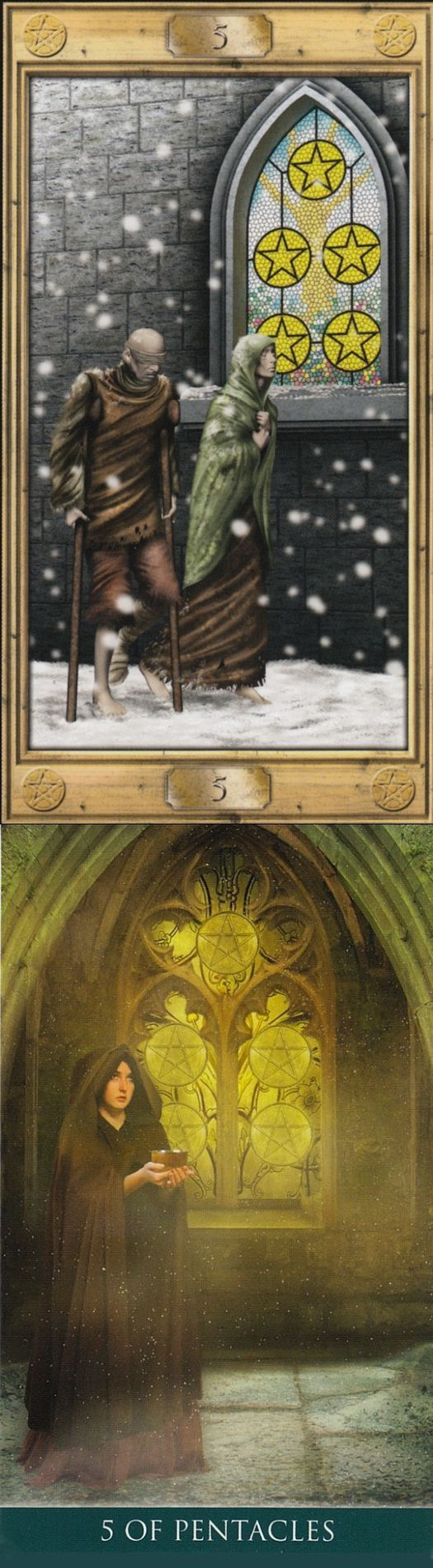Five of Pentacles: need and recovering from poverty (reverse). Pictorial Tarot deck and Thelema Tarot deck: personal tarot reading, free online tarot reading yes or no vs tarotlenormand. Best 2018 tarot and halloween decor diy.