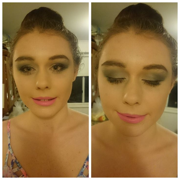 Make up and hair done by me.