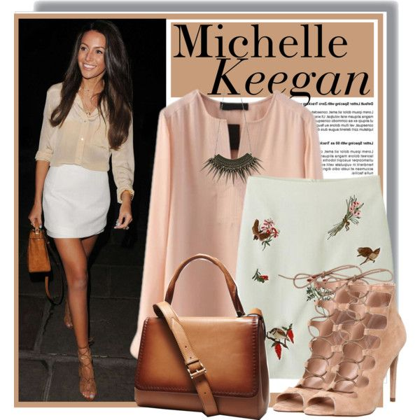 Michelle Keegan - pinkqueen.com by anne-mclayne on Polyvore featuring Office and MaxMara