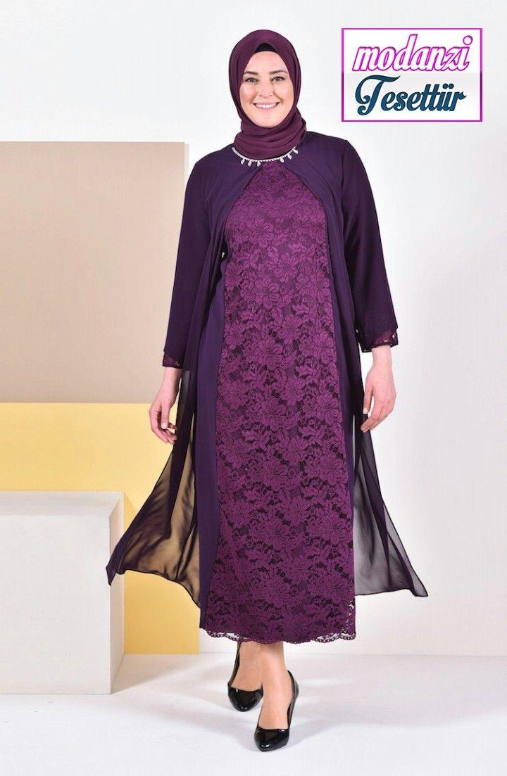Sefamerve Buyuk Beden Abiye 2020 Buyuk Beden Tasli Abiye Elbise 1049 02 Mor 2020 Moda Stilleri Elbise Modelleri Elbise
