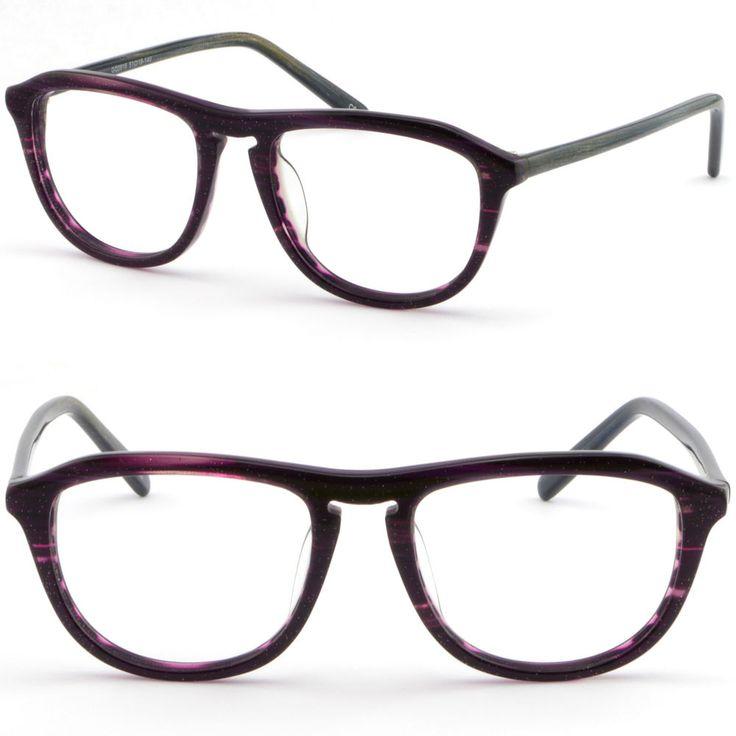 Full Rim Women Acetate Plastic Frame Keyhole Bridge Glasses RX Sunglasses Purple #Unbranded