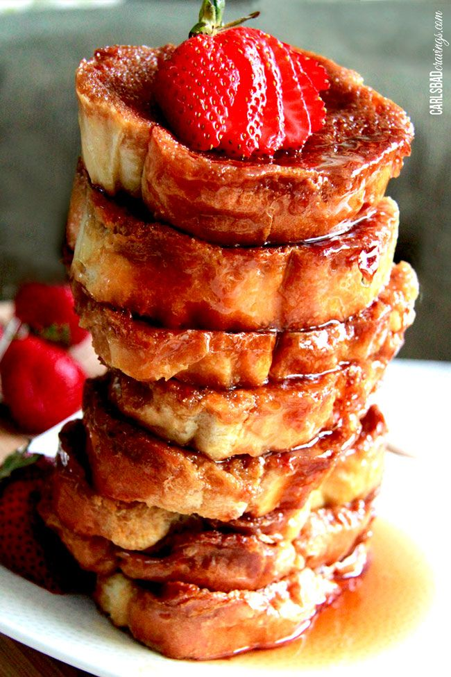 STACKS ON STACKS ON STACKS. Get the recipe from Carlsbad Cravings.   - Delish.com