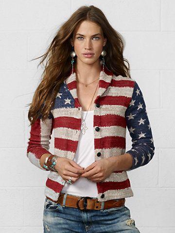 American-Flag Cardigan - Cardigans  Sweaters - RalphLauren.com