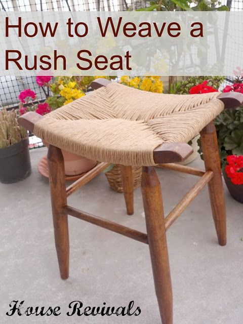 House Revivals: How to Weave a Rush Seat --- need to try this on my old black chairs.