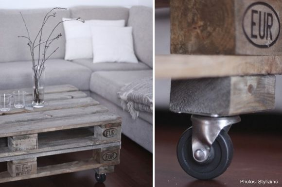 pallet coffee table. i have to make this.