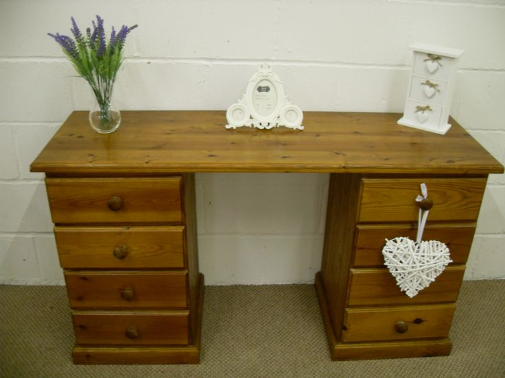 PINE DRESSING TABLE WITH 8 DRAWERS CAN COURIER - L 133 - D 46 - H 77 CM - £99 http://www.drabtofabfurniture.co.uk/non-painted-furniture/