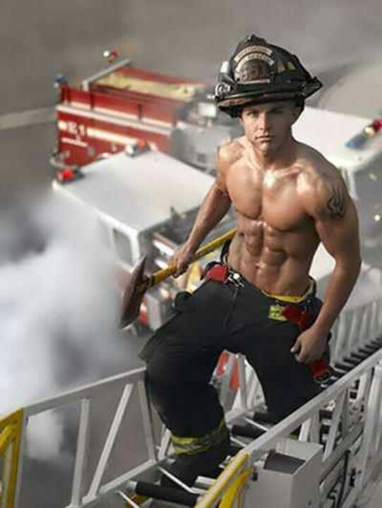 Firemen, heros in uniform, Hot, Firetruck, Sexy, Men
