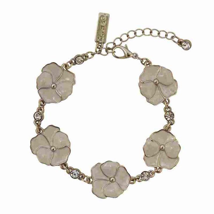 Art Nouveau Pansy Bracelet Cream