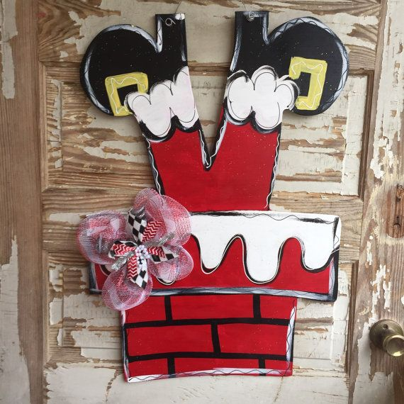 Christmas Santa Clause Door Hanger by queensofcastles on Etsy