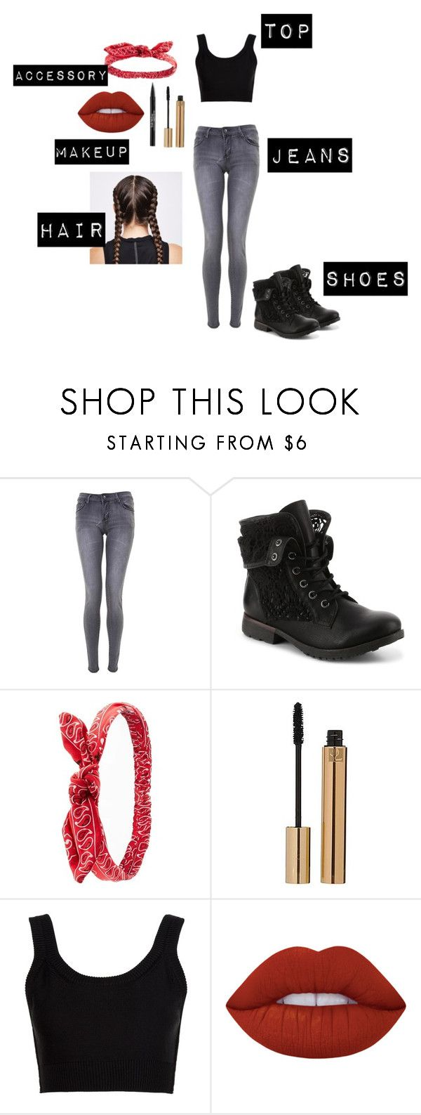 """""""Black Friday, Not on Sale"""" by mandiscarlet ❤ liked on Polyvore featuring Charlotte Russe, Yves Saint Laurent, Calvin Klein Collection, Lime Crime, Ultimate and Trish McEvoy"""