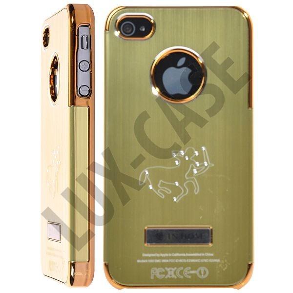 Zodiac Bling - Alu Back (Grønn) iPhone 4/4S Deksel