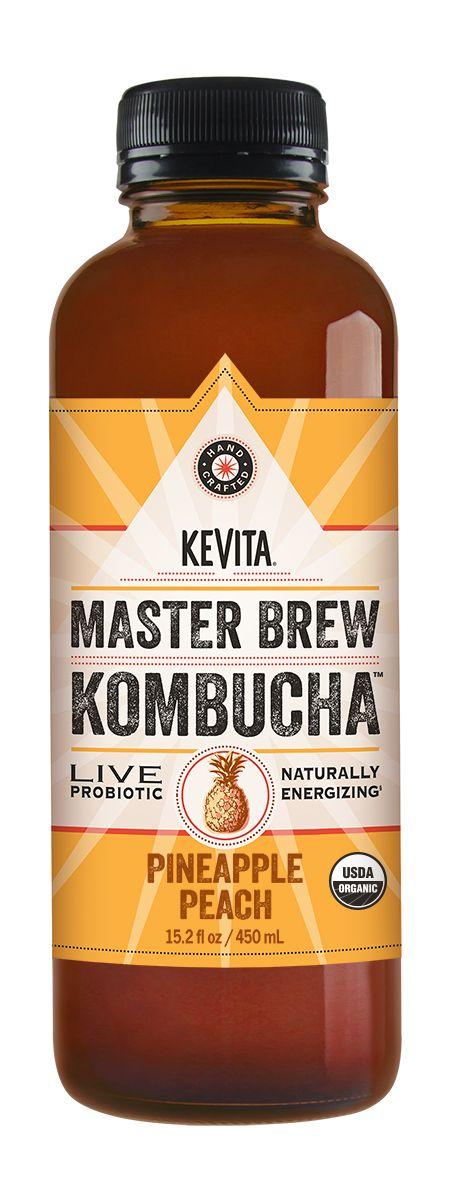 KeVita's Master Brew Kombucha contains 2 strains of probiotics, 4 billion CFUs, natural energizing caffeine, and 6x the organic acids as other Kombuchas.