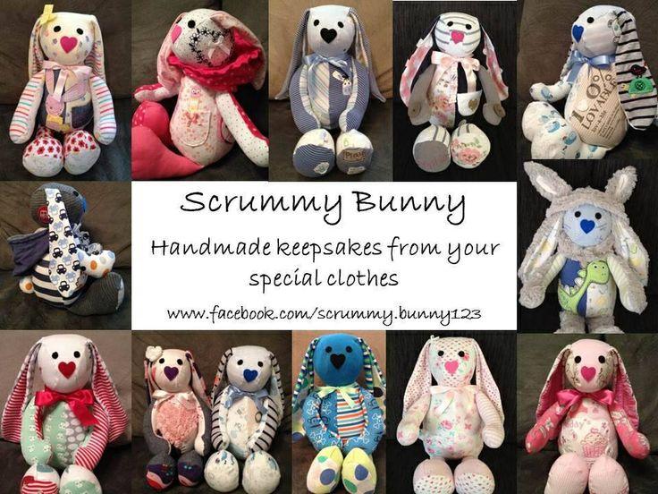 Turn your special clothes into a unique keepsake. www.facebook.com/Scrummy.bunny123