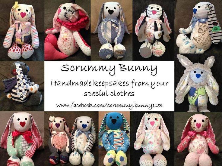 Turn your special clothes into a unique keepsake. www.facebook.com/Scrummy.bunny123