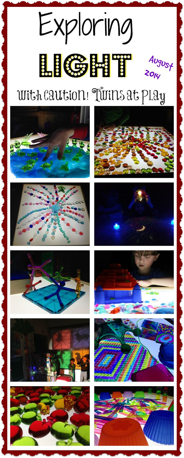 August explorations on the light table