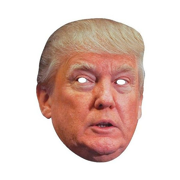 Donald Trump Paper Mask, Adult Unisex, Multi-Colored (£9.21) ❤ liked on Polyvore featuring costumes, halloween, adult halloween costumes, colorful halloween costumes, colorful costumes, red costume and adult costume