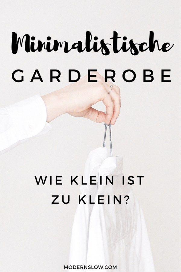Wie klein kann eine minimalistische Garderobe sein? | modernslow.com