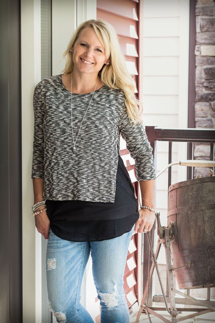 - 70% Cotton, 30% Rayon  Super {Versatile} and EASILY Dressed Up or Down, this Layered Chiffon  Detailed Tunic is going to become one of…