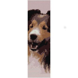 Instant Download Beading Pattern Peyote Stitch Bracelet Smiling Sheltie Seed Bead Cuff