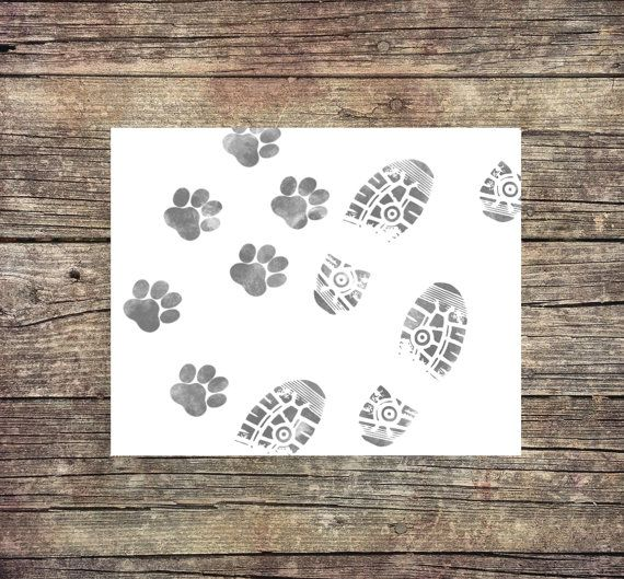 Man and Woman's Best Friend   Digital Print  by ThoughtWorksByAbby
