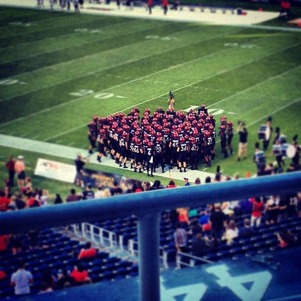 "via @laurennn513's photo: ""Team chant. #sdsu #aztecs #qualcomm #unlv #lasvegas #nevada"""