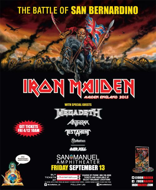 [News] Iron Maiden Announce Brief US Tour With Megadeth, Including Special Event In California - http://metalassault.com/news/2013/04/08/iron-maiden-announce-brief-us-tour-with-megadeth-including-special-event-in-california/
