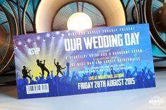 Concert & Gig Ticket Wedding Invites - http://www.wedfest.co/concert-gig-ticket-wedding-invites/