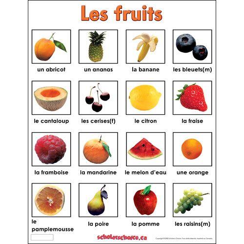 fruit in french veil pinterest fran ais. Black Bedroom Furniture Sets. Home Design Ideas