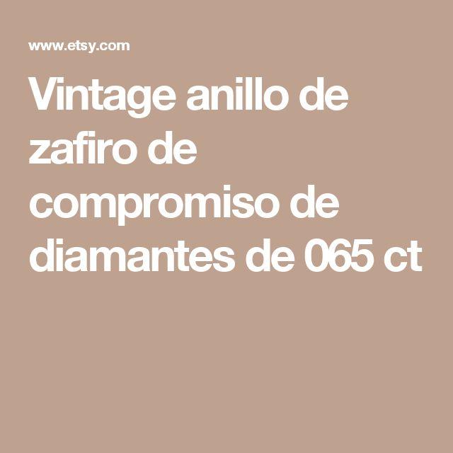 Vintage anillo de zafiro de compromiso de diamantes de 065 ct