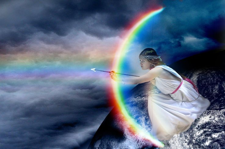 Coolest depiction of the Greek rainbow goddess Iris that I've ever come across!
