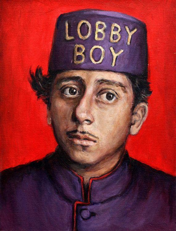 Lobby Boy  Grand Budapest Hotel  5x7 Print  by HeatherBuchanan, $12.00...kinda love this.